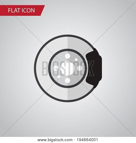 Isolated Brake Disk Flat Icon. Metal Vector Element Can Be Used For Brake, Disk, Metal Design Concept.