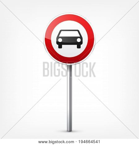Road red signs collection isolated on white background. Road traffic control.Lane usage.Stop and yield. Regulatory signs. Curves and turns.
