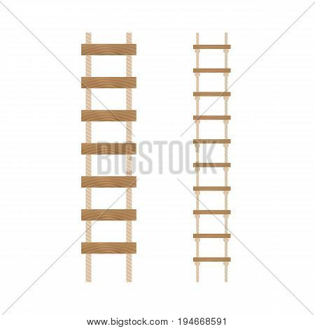 Rope ladders on a white background.Vector illustration.