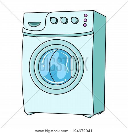 Household washing machine. Dry cleaning single icon in cartoon style vector symbol stock illustration .