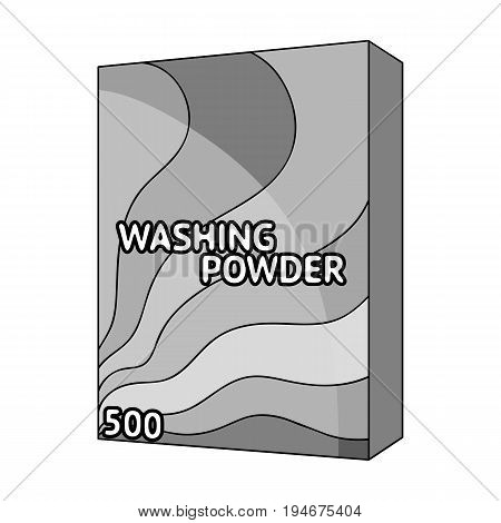 Washing powder. Dry cleaning single icon in outline style vector symbol stock illustration .