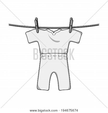 Drying of clean things. Dry cleaning single icon in outline style vector symbol stock illustration .