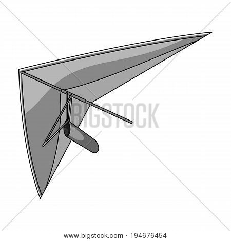 Hang gliding.Extreme sport single icon in monochrome style vector symbol stock illustration .
