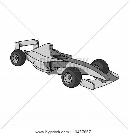 Car racing.Extreme sport single icon in monochrome style vector symbol stock illustration .