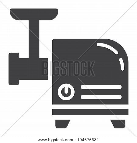 Meat Grinder solid icon, household and appliance, vector graphics, a glyph pattern on a white background, eps 10.