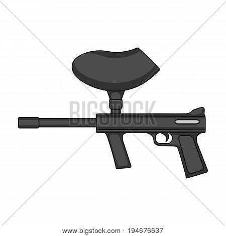 Marker for paintball.Extreme sport single icon in monochrome style vector symbol stock illustration .