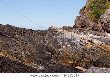 Rugged Rocky Coastline - Blueys Beach, New South Wales, Australia