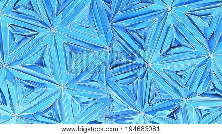 Colorful Triangulation Background, Deformed Surface, 3D Rendering