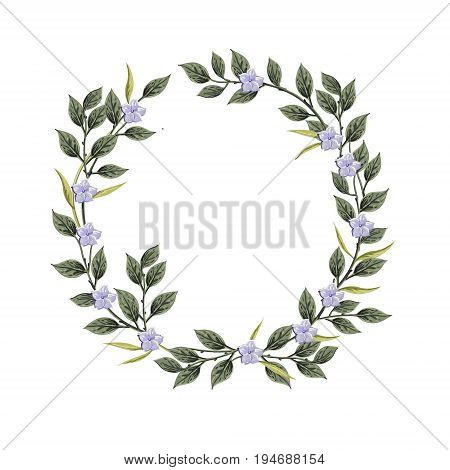 Vector flowers Beautiful wreath. Elegant floral collection with isolated blue, pink leaves and flowers, hand drawn watercolor. Design for invitation, wedding or greeting cards