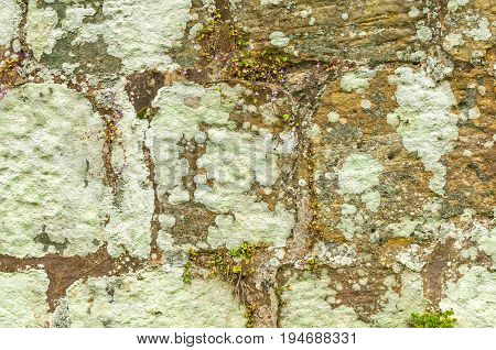 Old Rustic Worn Stonewall Background for design