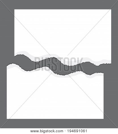 Torn Edge, Ripped Paper Vector Symbol Icon Design.