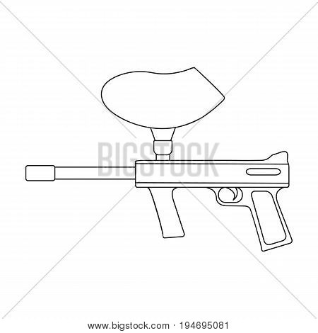 Marker for paintball.Extreme sport single icon in outline style vector symbol stock illustration .
