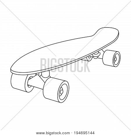 Skateboard.Extreme sport single icon in outline style vector symbol stock illustration .