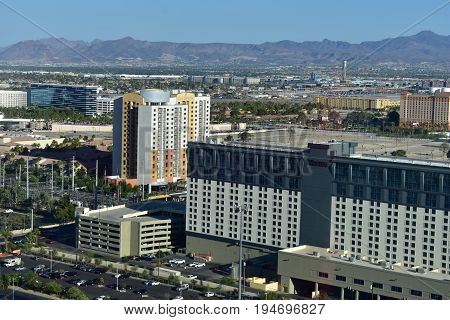 Las Vegas, Nevada - Usa - June 05,2017 - View Of Las Vegas Strip In Nevada