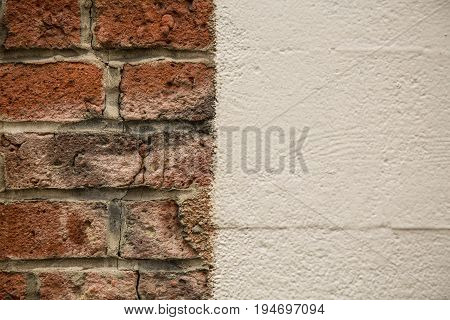 Concept juxtaposition old new bricks background abstract