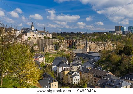 Luxembourg city cityscape - architecture background