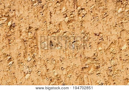 Single Beige Brick Background, textured with copy space