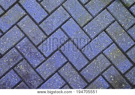 Blue block paving background for design with copy space