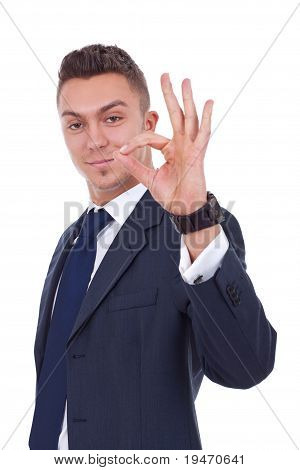 Young Business Man, Showing A Sign Ok