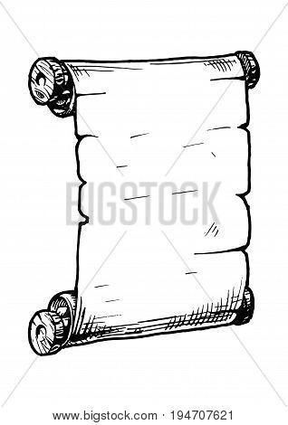 Illustration Of  Old Scroll