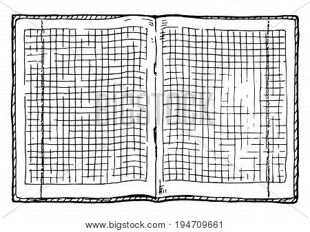 Illustration Of  Checkered Notebook
