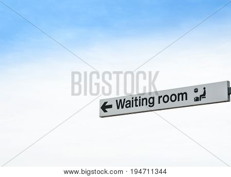 Waiting Room,No People,Sign,Sky,Copy Space,Luggage,Time,Death,Spirituality,Blue,Direction,Ideas,Transportation,Clock,Religion,Resting,Travel,Checking the Time,People Traveling,Single Object,Heaven,Afterlife,Sitting,Waiting