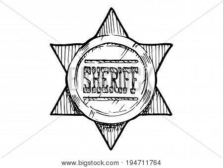 Illustration Of Sheriff Star