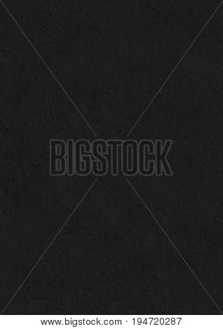 Leather Black Paper Corrugated Texture Background.