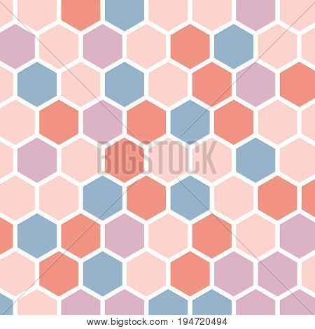 Colorful abstract background with hexagons, stock vector