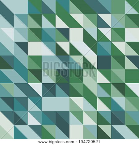 Abstract background with green tone triangles, stock vector