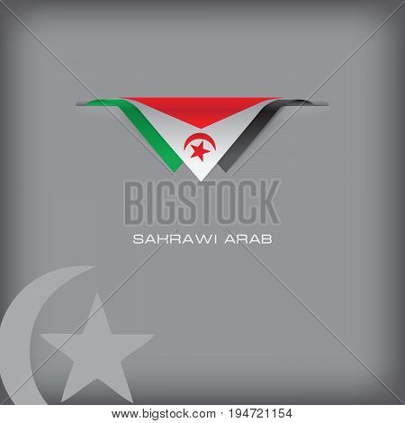 The combination of colors of the national flag Sahrawi Arab.