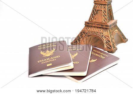 Image of Thailand passport on white background