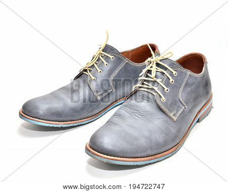 blue man shoes isolated on a white background.