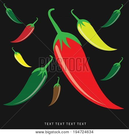 chili pepper vector, vector idea, thai food.