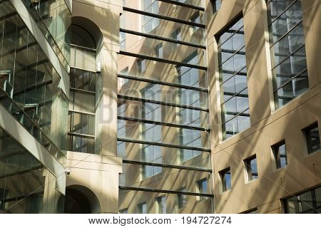 Vancouver public library interior low angle March 2017