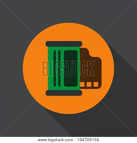 Media player flat icon. Round colorful button circular vector sign logo illustration. Flat style design