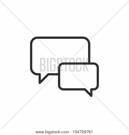 Chat forum line icon outline vector sign linear style pictogram isolated on white. Speech bubbles symbol logo illustration. Editable stroke. Pixel perfect graphics