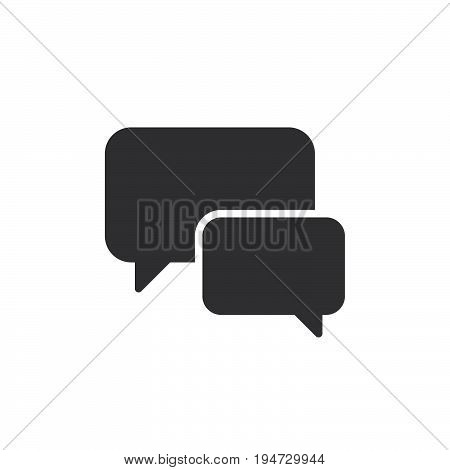 Chat forum icon vector filled flat sign solid pictogram isolated on white. Speech bubbles symbol logo illustration. Pixel perfect graphics