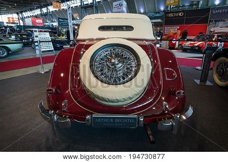 STUTTGART GERMANY- MARCH 17 2016: Vintage car Mercedes-Benz Typ 320 (W142)