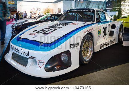 STUTTGART GERMANY - MARCH 17 2016: Racing car Porsche 935 L1