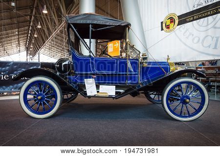 STUTTGART GERMANY - MARCH 17 2016: Vintage car Ford Model T 1910. Europe's greatest classic car exhibition