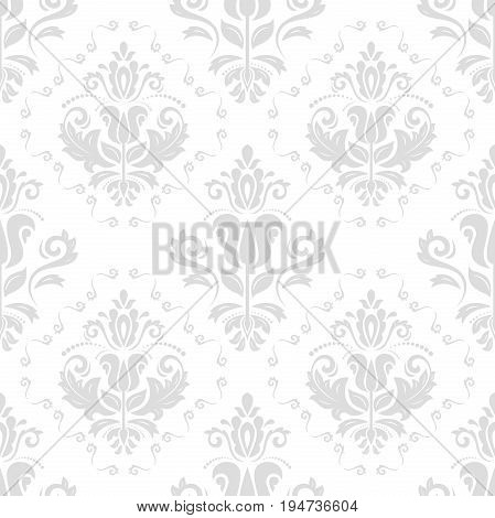 Oriental classic light silver pattern. Seamless abstract background with repeating elements. Orient background