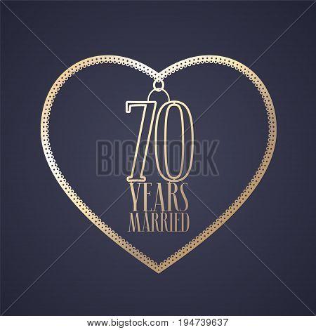 70 Years Anniversary Vector Photo Free Trial Bigstock