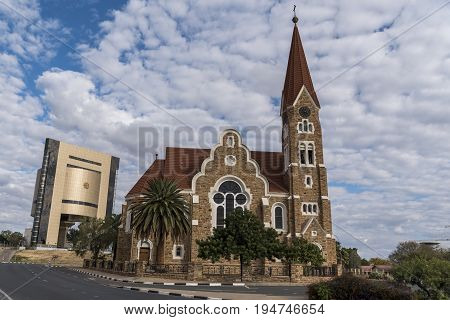 the beautiful Christ church in Windhoek Namibia