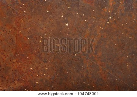 Close up of grungy rusty matel for use as background.