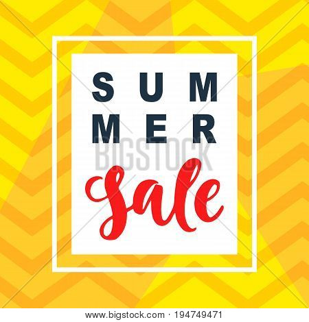 Summer Sale mobile banner template for online shopping. Vector Illustration