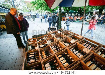 Outdoor Food Market  In Munich