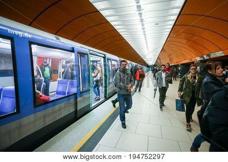 Subway System In Munich