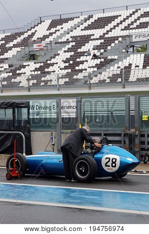 Magny-cours, France, June 30, 2017 : Old Scarab F1. The First French Historic Grand Prix Takes Place
