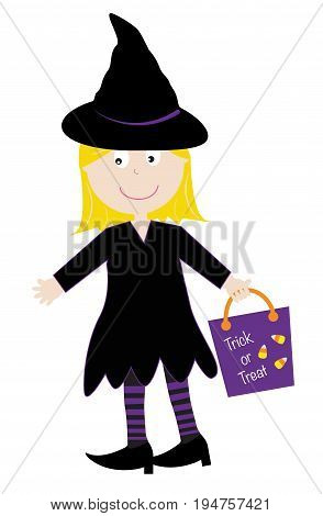Happy Halloween Witch Trick or Treater Goodie Bag